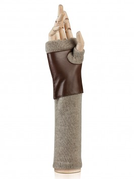 Длинные перчатки ELEGANZZA (Элеганза) 12600 Коричневый фото №2 01-00015905