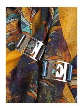 Бижутерия для платков ELEGANZZA (Элеганза) 28A-F1002-2 Темно-серый фото №2 01-00013203