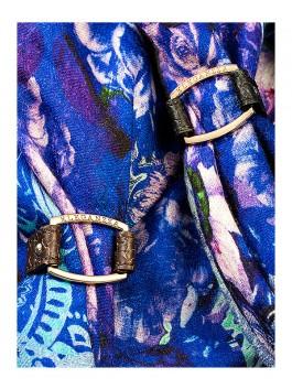 Бижутерия для платков ELEGANZZA (Элеганза) 28A-F1003-1 Коричневый фото №2 01-00012937