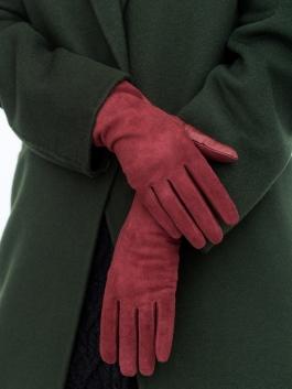 Длинные перчатки ELEGANZZA (Элеганза) IS5003shelk Красный фото №2 01-00004213