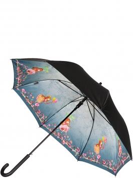 Зонт-трость ELEGANZZA (Элеганза) T-05-0399D Светло-серый фото №1 01-00026852