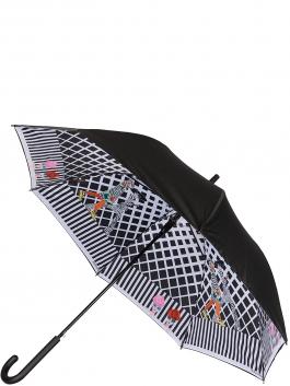 Зонт-трость ELEGANZZA (Элеганза) T-05-0450D Черный фото №1 01-00026853