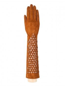Длинные перчатки ELEGANZZA (Элеганза) F-IS0071 Рыжий фото №1 01-00005250