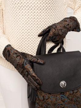 Fashion перчатки ELEGANZZA (Элеганза) IS00151 Черный фото №4 01-00023452