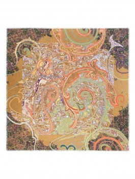Платок ELEGANZZA (Элеганза) E16-7166 Оранжевый фото №1 01-00025069