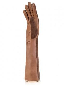 Длинные перчатки ELEGANZZA (Элеганза) IS5003shelk Коричневый фото №2 01-00010477